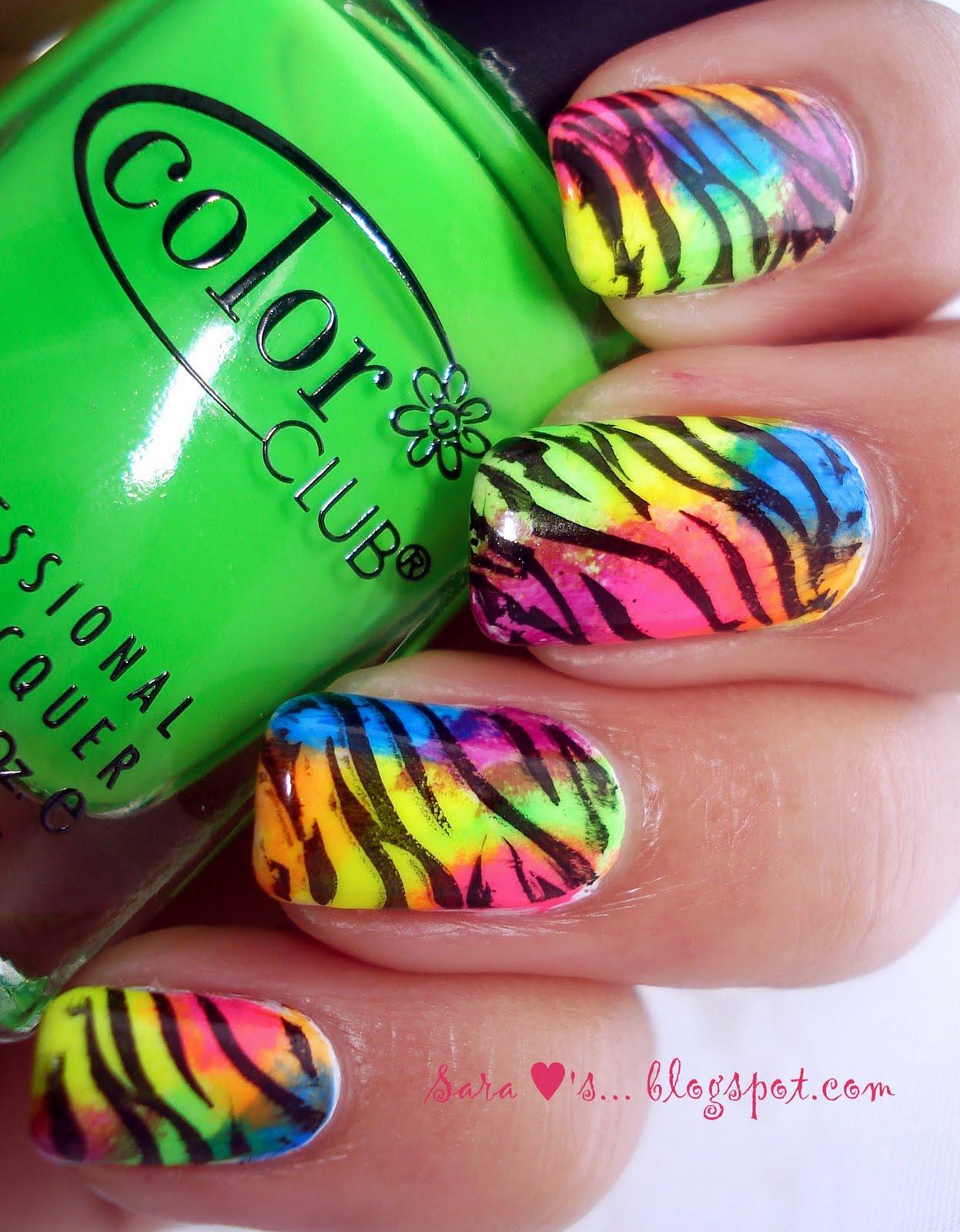 neon-animal print nail tutorial | color society blogcolor society blog - Animal Pictures Print Color