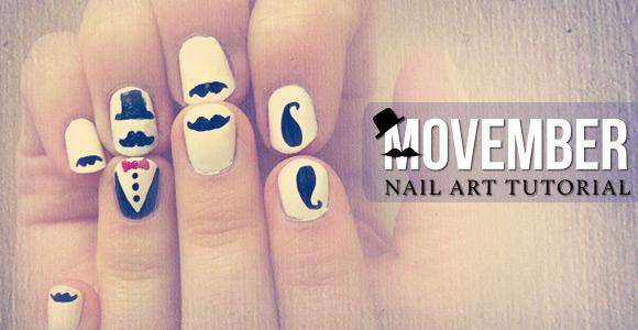 Movember nail art tutorial color society blogcolor society blog movember nail art tutorial prinsesfo Choice Image